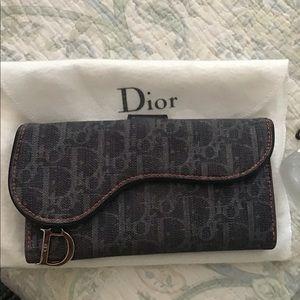 👛Christian Dior Saddle Monogram Blue Denim Wallet